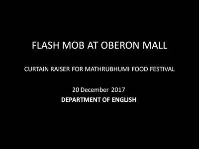 MATHRUBHUMI FOOD FESTIVAL FLASH MOB