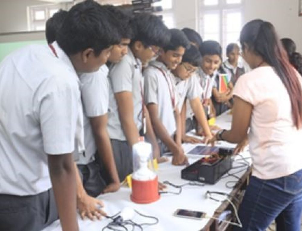 Exhibition on Solar Lamp and LED bulb assembled by I CONNECT Members