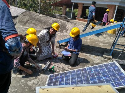 Training on Solar Panel Assembling