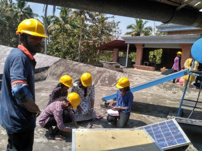 Training on Solar Panel Assembling at Aluva