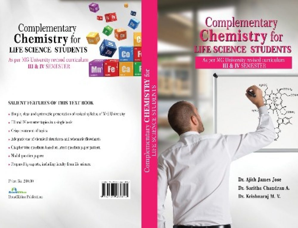 Dr. Saritha Chandran A of Department of Chemistry published books for complementary chemistry