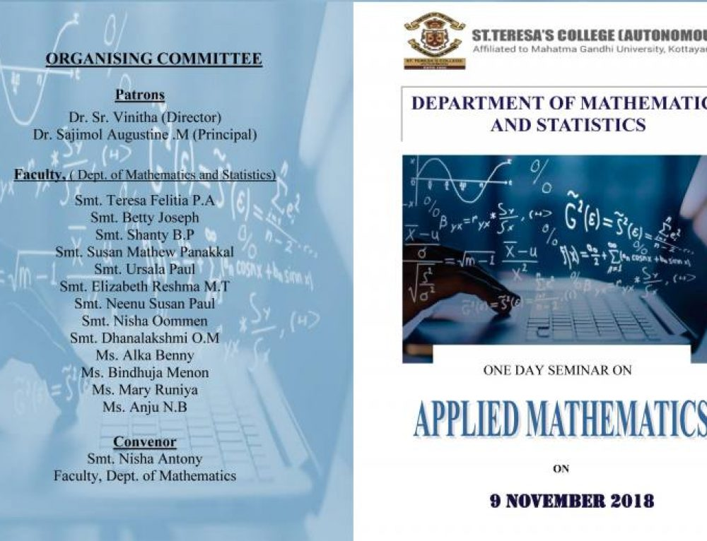 One Day Seminar on 'APPLIED MATHEMATICS'