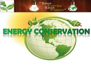 Award on energy conservation