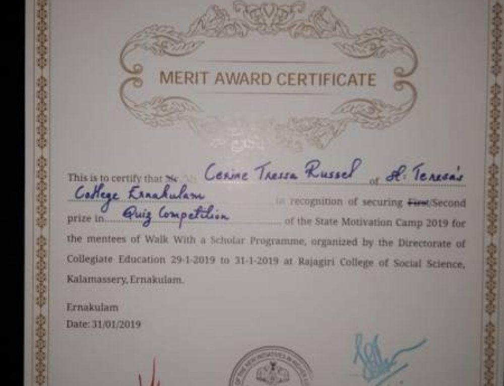 Winner of WWS Scholar – Cerine Tressa Russell !!!