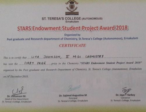 STARS Endowment Student Project Award 2018