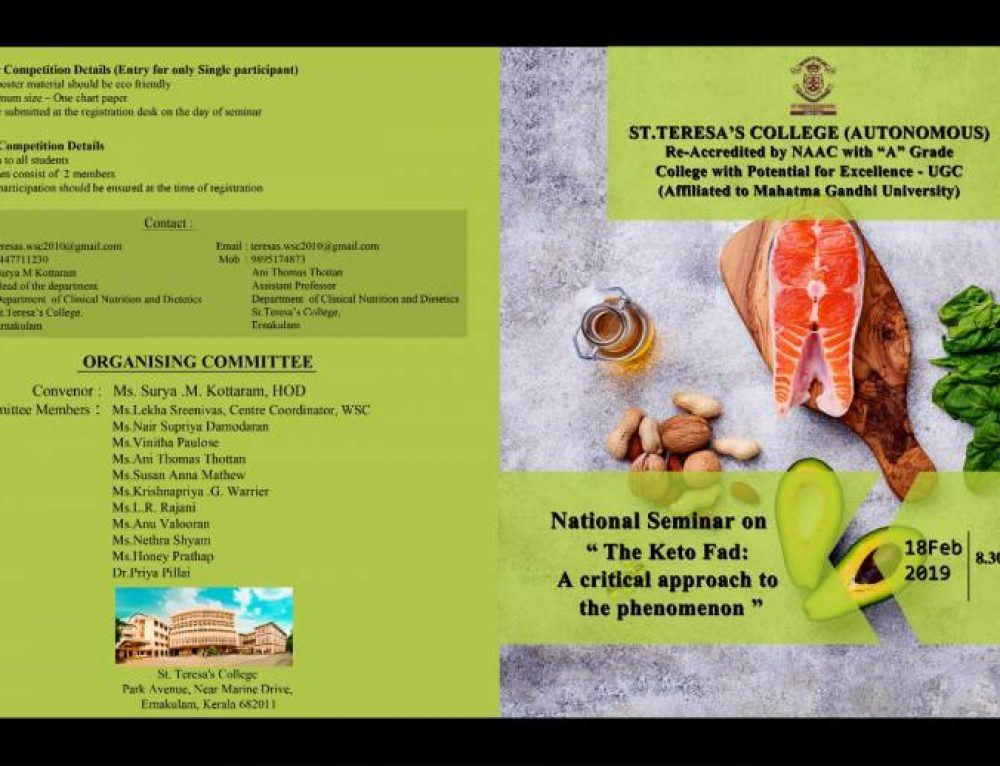 """The Keto Fad: A Critical Approach to Phenomenon""- National Seminar"