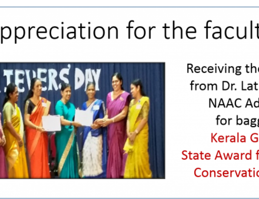 Recognition for the faculty on Achiever's Day