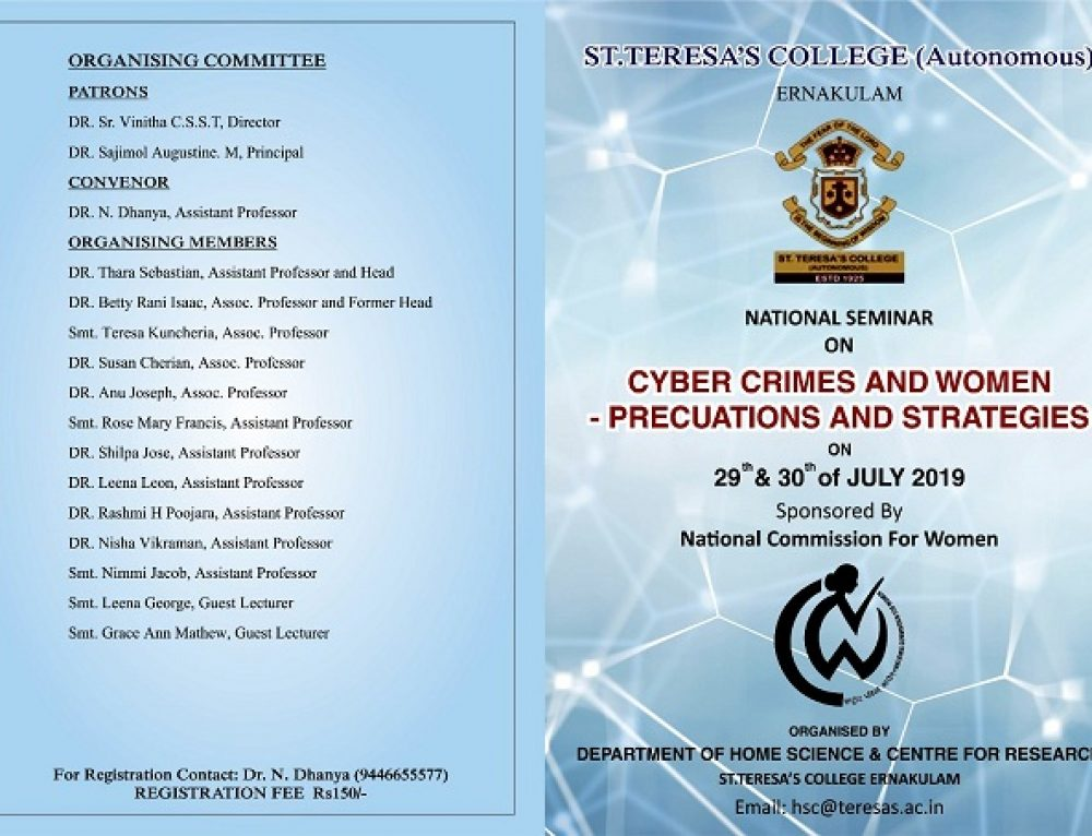 National Seminar on Cyber Crimes against Women – Precautions and Strategies