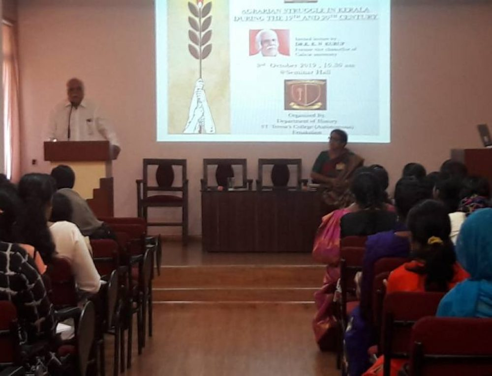 "A  Talk on ""Agrarian Struggle in Kerala During the 19th and 20th Centuries"""