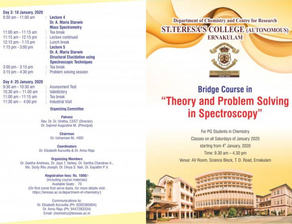 Bridge Course for MSc Chemistry students
