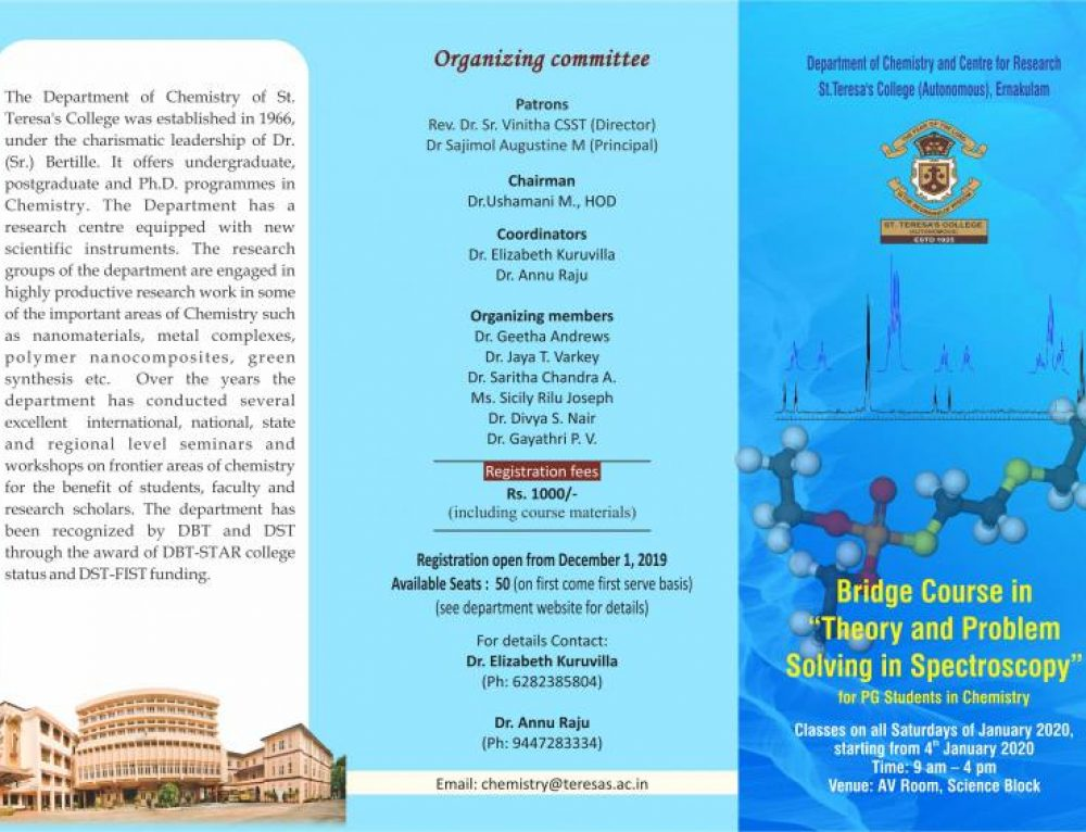 Bridge Course for MSc Chemistry students