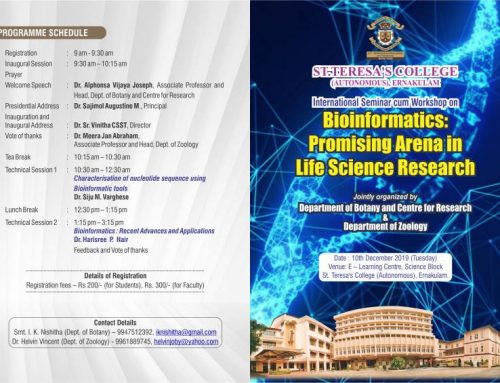 International seminar cum workshop titled 'BIOINFORMATICS: PROMISING ARENA IN LIFE SCIENCE RESEARCH'