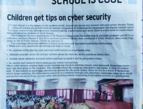 Cyber Security Awareness Campaign At Toc-H Public School By BCA-CT&ISM