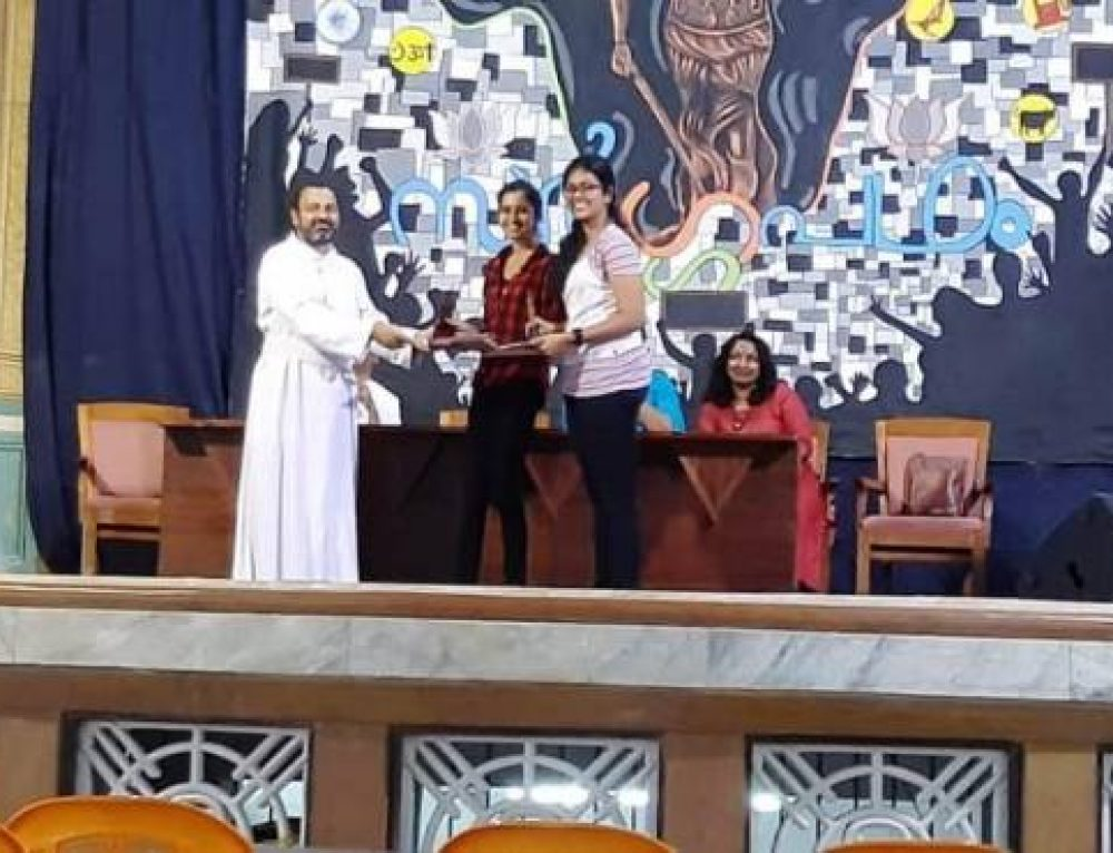 Bhavya k Narayanan from III DC History,first runner up in Sargapatham literary Pentathlon