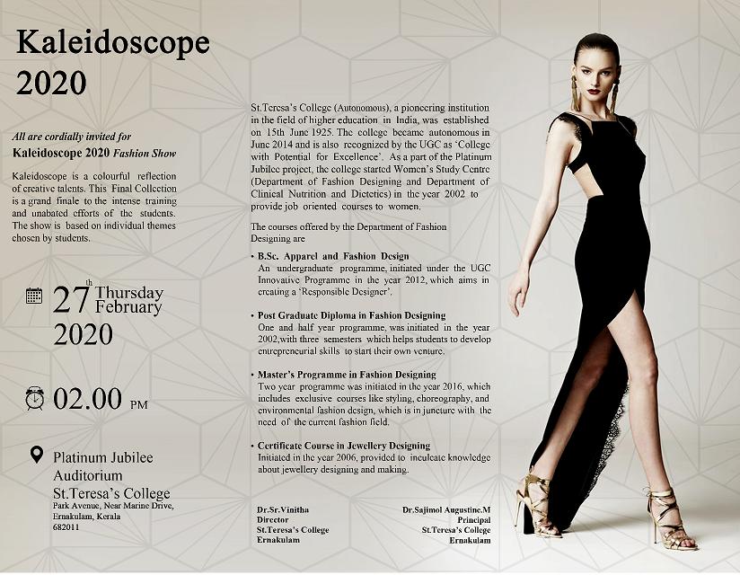 Fashion Designing Kaleidoscope Archives St Teresa S College Autonomous