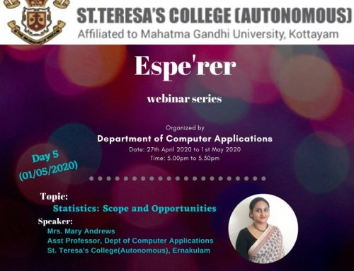 Espe'rer – Webinar Series Conducted by Department of Computer Applications
