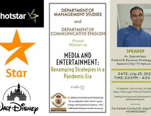 "webinar on ""Media and Entertainment: Revamping Strategies During a Pandemic Era"""