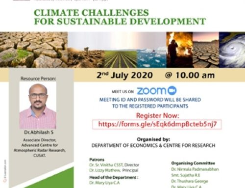 Webinar on Climate challenges in Sustainable Development
