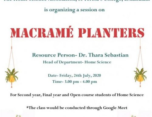 Session on Designing Plant Macrame on the 24th of July 2020.