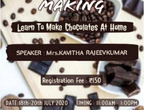 "Three Day Workshop on ""Learn How To Make Chocolates at Home"""