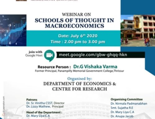 Webinar on Schools of Thought in Macroeconomics -6th July 2020