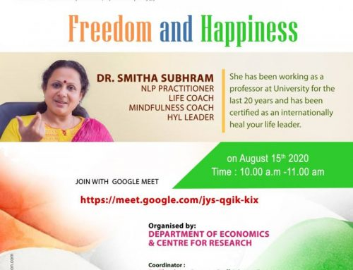 Independence Day Celebrations  & Session on Freedom and Happiness-Dept.of Economics