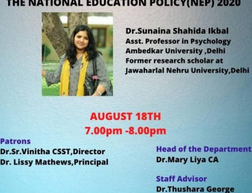 Panel Discussion on New Education Policy 2020-organised by Student Wing,Dept.of Economics