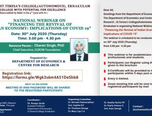 National Webinar on Financing the Revival of Indian Economy: Implications of COVID 19