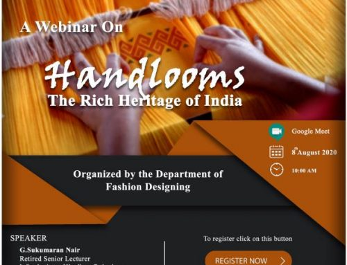 Webinar on 'Handloom- The Rich Heritage of India'