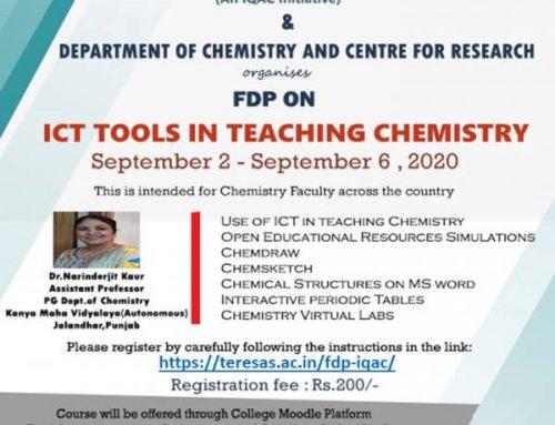 FDP on  ICT Tools in Teaching Chemistry