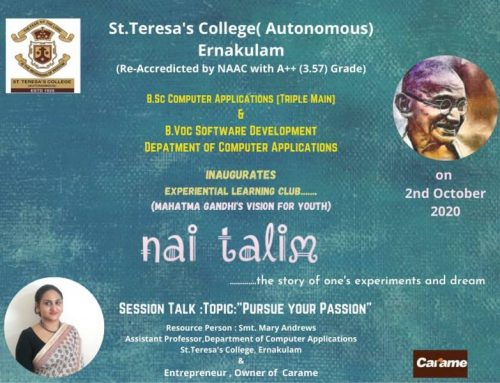 Nai Talim – Experiential Learning Club by BSc.Computer Applications(Triple Main) and BVoc Software Development