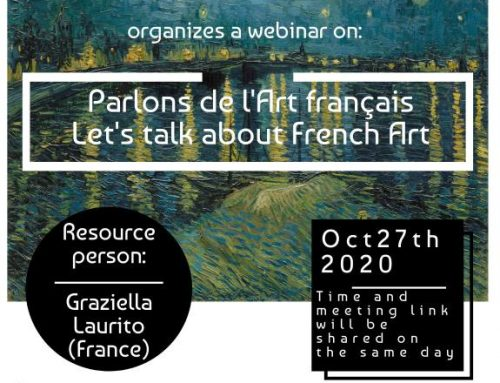 AN INTERNATIONAL WEBINAR ON FRENCH ART , 'PARLONS DE L'ART FRANÇAIS'