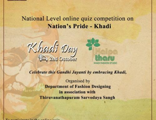 National level Online Quiz Competition organized as part of 'Khadi Day'