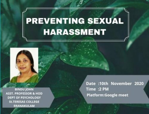 Resource Person – Preventing Sexual Harassment at S.D. College, Alapuzha