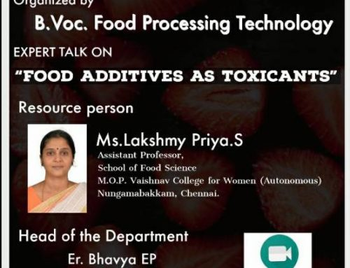 A TALK ON FOOD ADDITIVES AS TOXICANTS