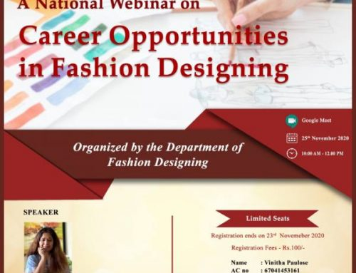 National Webinar- Career Opportunities in Fashion Designing