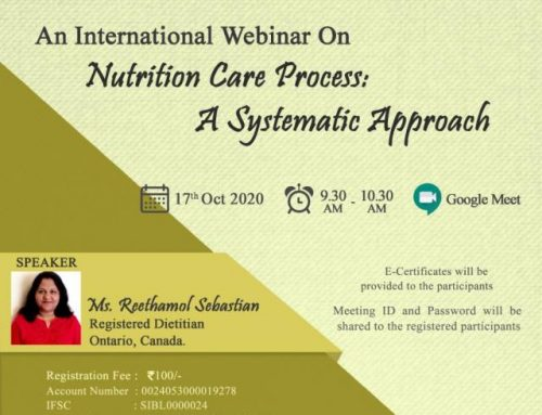 International Webinar on Nutrition Care Process a Systematic Approach