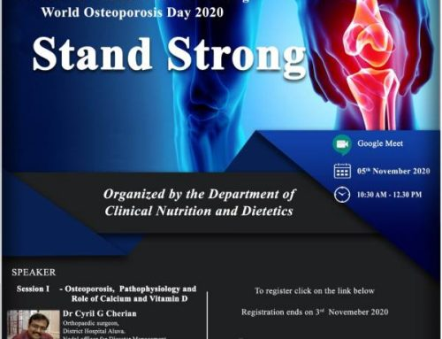 """A National Webinar on – Stand Strong"" to commemorate World Osteoporosis Day"