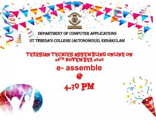 e-Assemble – online Alumnae meet