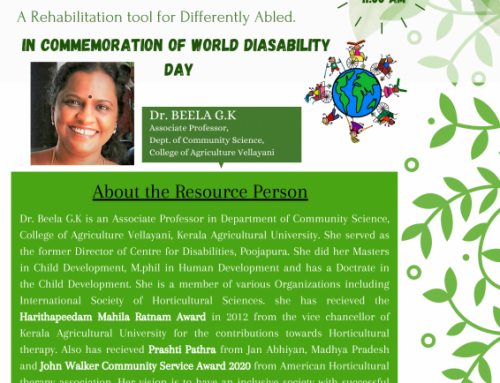 Commemoration of International Day of Persons with Disability