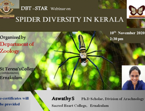 DBT STAR WEBINAR ON SPIDER DIVERSITY IN KERALA