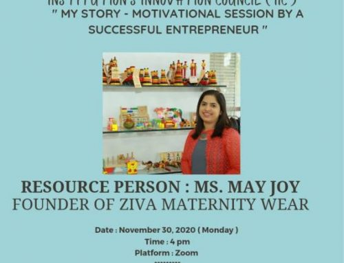 MY STORY: MOTIVATIONAL SESSION BY A SUCCESSFUL ENTREPRENEUR