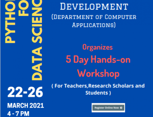 Python For Data Science – Hands on Workshop organized by BVoc Software Development , Department of Computer Applications
