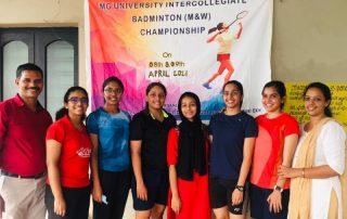 Badminton Championship Winners of MG University - 2021