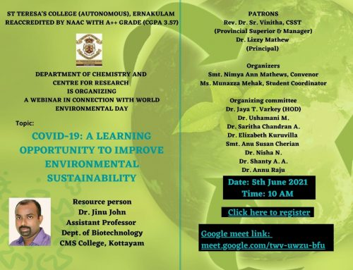 Webinar on Covid-19 A Learning Opportunity to Improve Environment Sustainability