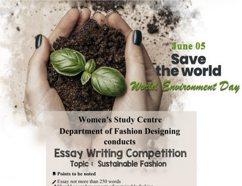Essay Writing Competition as part of 'World Environment Day'