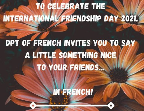 The Department of French celebrates 'International friendship day'