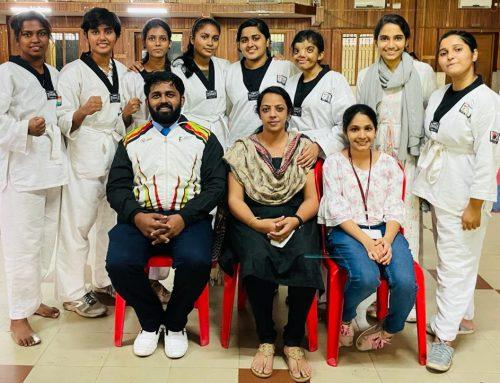 Congratulations Taekwondo Champions – Alfiya, Aleesha, Jafsin (BVoC Software Development)