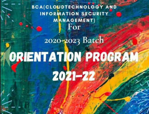 Orientation Program 2021 to 3rd sem students by BCA(CT&ISM)
