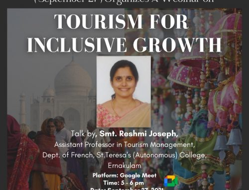 World Tourism Day commemorated by Department of Home Science on 27.9.2021